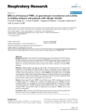 """Báo cáo y học: """" Effects of intranasal TNFα on granulocyte recruitment and activity in healthy subjects and patients with allergic rhinitis"""""""