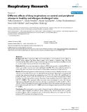 """Báo cáo y học: """" Different effects of deep inspirations on central and peripheral airways in healthy and allergen-challenged mice"""""""