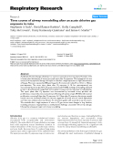 """Báo cáo y học: """"Time course of airway remodelling after an acute chlorine gas exposure in mice"""""""