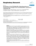 "Báo cáo y học: ""Participation of the PI-3K/Akt-NF-κB signaling pathways in hypoxia-induced mitogenic factor-stimulated Flk-1 """