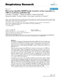 "Báo cáo y học: "" Microarray identifies ADAM family members as key responders to TGF-β1 in alveolar epithelial cells"""