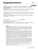 """Báo cáo y học: """" A self-rating scale for patient-perceived side effects of inhaled corticosteroids"""""""