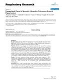 "Báo cáo y học: "" Upregulated Genes In Sporadic, Idiopathic Pulmonary Arterial Hypertension"""