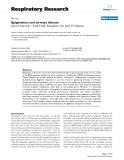 "Báo cáo y học: "" Epigenetics and airways disease"""