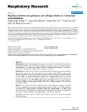 "Báo cáo y học: "" Relation between air pollution and allergic rhinitis in Taiwanese schoolchildren"""
