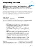 """Báo cáo y học: """"Prolonged ozone exposure in an allergic airway disease model: Adaptation of airway responsiveness and airway remodeling"""""""
