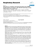 """Báo cáo y học: """" Alterations in vasodilator-stimulated phosphoprotein (VASP) phosphorylation: associations with asthmatic phenotype, airway inflammation and β2-agonist use"""""""