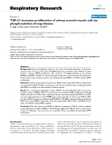 """Báo cáo y học: """" TGF-β1 increases proliferation of airway smooth muscle cells by phosphorylation of map kinases"""""""