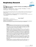 """Báo cáo y học: """"Can HRCT be used as a marker of airway remodelling in children with difficult asthma?"""""""