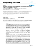 """Báo cáo y học: """" Cognitive, emotional, and quality of life outcomes in patients with pulmonary arterial hypertension"""""""
