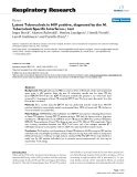 """Báo cáo y học: """" Latent Tuberculosis in HIV positive, diagnosed by the M. Tuberculosis Specific Interferon-γ test"""""""