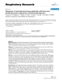 """Báo cáo y học: """" Apoptosis of viral-infected airway epithelial cells limit viral production and is altered by corticosteroid exposure"""""""