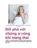 Đối phó với chứng ợ nóng khi mang thai