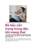 Bà bầu cẩn trọng trúng độc khi mang thai