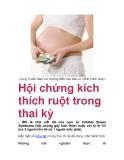 Hội chứng kích thích ruột trong thai kỳ