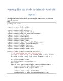 Hướng dẫn lập trình với Android 12