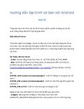 Hướng dẫn lập trình với Android 13