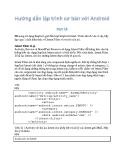 Hướng dẫn lập trình với Android 16