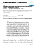 """Báo cáo khoa học: """"Fertility of frozen-thawed stallion semen cannot be predicted by the currently used laboratory methods"""""""