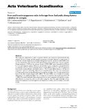 """Báo cáo khoa học: """"Iron and iron/manganese ratio in forage from Icelandic sheep farms: relation to scrapie"""""""
