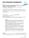 """Báo cáo khoa học: """" A study of bovine mastitis, milking procedures and management practices on 25 Estonian dairy herds"""""""