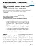 "Báo cáo khoa học: "" Impact of salinomycin on the intestinal microflora of broiler chicken"""