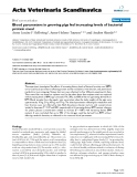 """Báo cáo khoa học: """"Blood parameters in growing pigs fed increasing levels of bacterial protein meal"""""""
