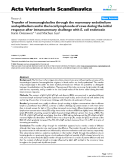 """Báo cáo khoa học: """"Transfer of immunoglobulins through the mammary endothelium and epithelium and in the local lymph node of cows during the initial response after intramammary challenge with E. coli endotoxin"""""""