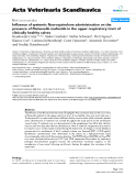 """Báo cáo khoa học: """"Influence of systemic fluoroquinolone administration on the presence of Pasteurella multocida in the upper respiratory tract of clinically healthy calves"""""""