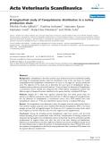 "Báo cáo khoa học: ""A longitudinal study of Campylobacter distribution in a turkey production chai"""