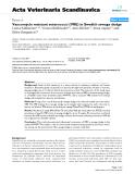 "Báo cáo khoa học: "" Vancomycin resistant enterococci (VRE) in Swedish sewage sludge"""