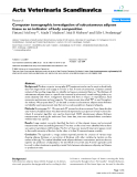 """Báo cáo khoa học: """"omputer tomographic investigation of subcutaneous adipose tissue as an indicator of body composition"""""""