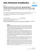 "Báo cáo khoa học: "" Experimental infection in calves with a specific subtype of verocytotoxin-producing Escherichia coli O157:H7 of bovine origin"""