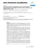 "Báo cáo khoa học: ""Prevalence of Borrelia burgdorferi sensu lato and Anaplasma phagocytophilum in questing Ixodes ricinus ticks in relation to the density of wild cervids"""