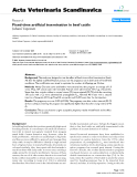 """Báo cáo khoa học: """"Fixed-time artificial insemination in beef cattle"""""""