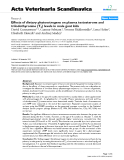"""Báo cáo y học: """"Effects of dietary phytoestrogens on plasma testosterone and triiodothyronine (T3) levels in male goat kids"""""""