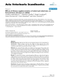 """Báo cáo y học: """"Effects of dietary supplementation of nickel and nickel-zinc on femoral bone structure in rabbits"""""""