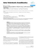 "Báo cáo y học: ""Anaplasma phagocytophilum in Danish sheep: confirmation by DNA sequencing"""