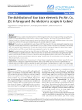 """Báo cáo thú y: """"The distribution of four trace elements (Fe, Mn, Cu, Zn) in forage and the relation to scrapie in Iceland"""""""