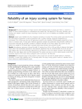 """Báo cáo khoa học: """"Reliability of an injury scoring system for horses"""""""
