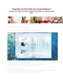 Tổng hợp các thủ thuật hay trong Windows 7