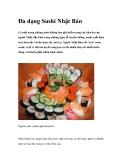 Đa dạng Sushi Nhật Bản