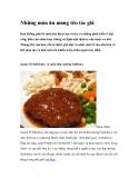 Những món ăn mang tên tác giả