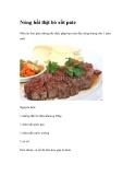 Nóng hổi thịt bò xốt pate