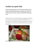 Sashimi của người Nhật