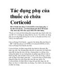 Tác dụng phụ của thuốc có chứa Corticoid
