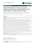 """Báo cáo y học: """"Tiludronate treatment improves structural changes and symptoms of osteoarthritis in the canine anterior cruciate ligament model"""""""