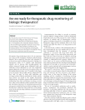 """Báo cáo y học: """"Are we ready for therapeutic drug monitoring of biologic therapeutics"""""""