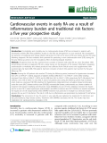 """Báo cáo y học: """" Cardiovascular events in early RA are a result of inflammatory burden and traditional risk factors: a five year prospective study"""""""