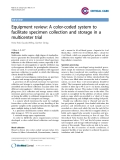 "Báo cáo y học: "" Equipment review: A color-coded system to facilitate specimen collection and storage in a multicenter trial"""